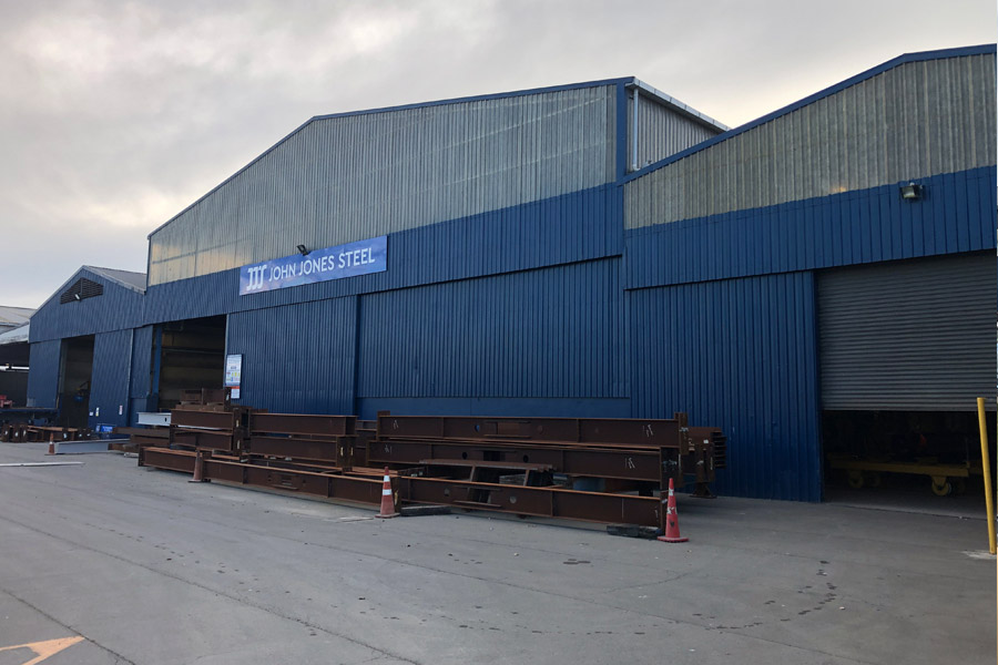 Steel in front Timaru Plant